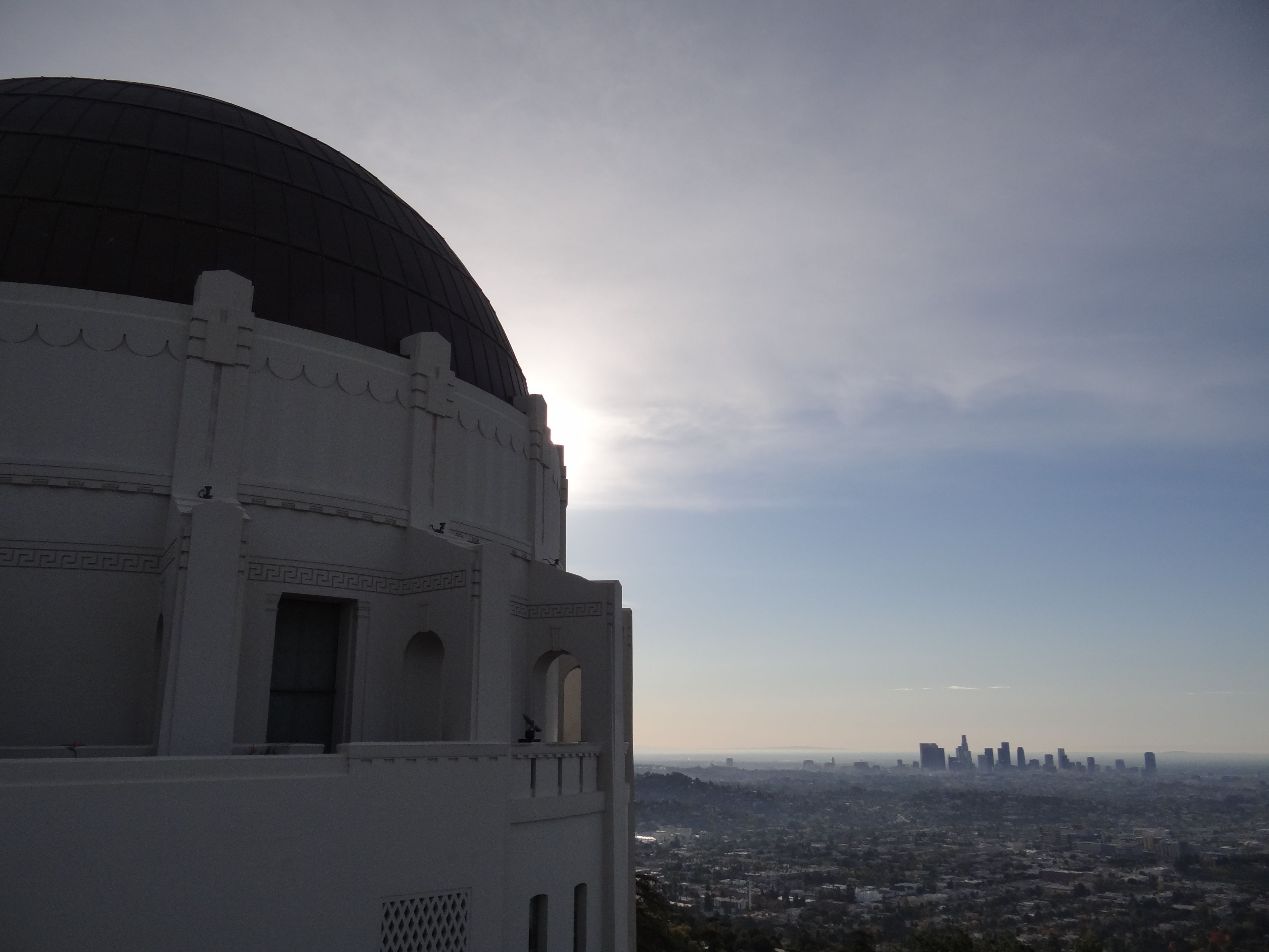 View of LA from the Griffith Park Observatory.  Been here!