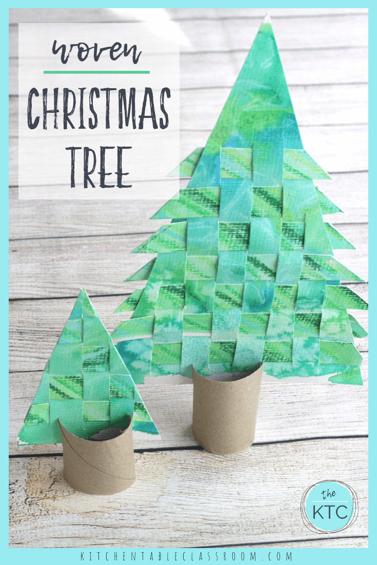 Woven Paper Christmas Tree The Kitchen Table Classroom Paper Christmas Tree Christmas Crafts For Kids Christmas Crafts