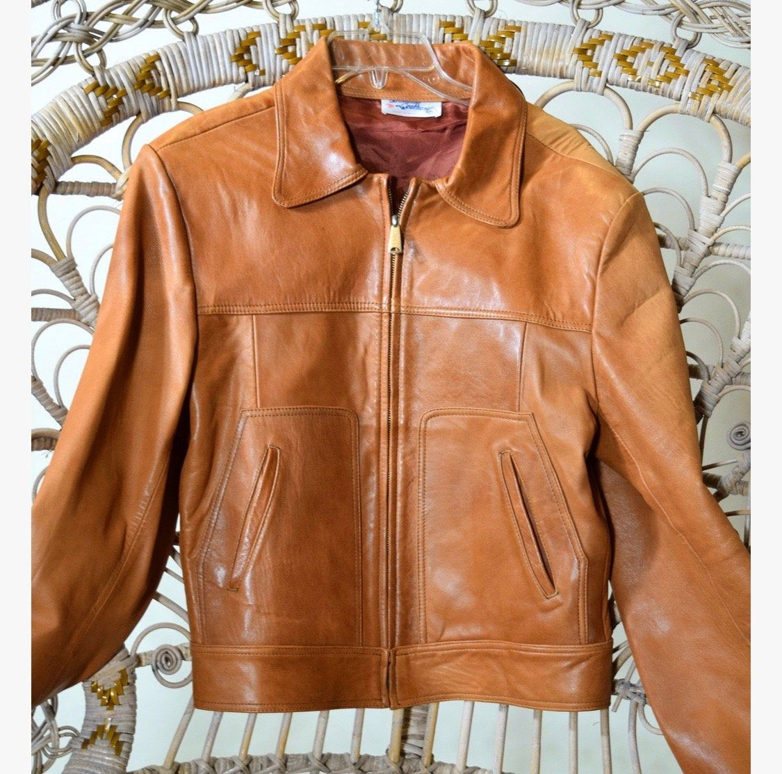 Authentic vintage jacket genuine leather