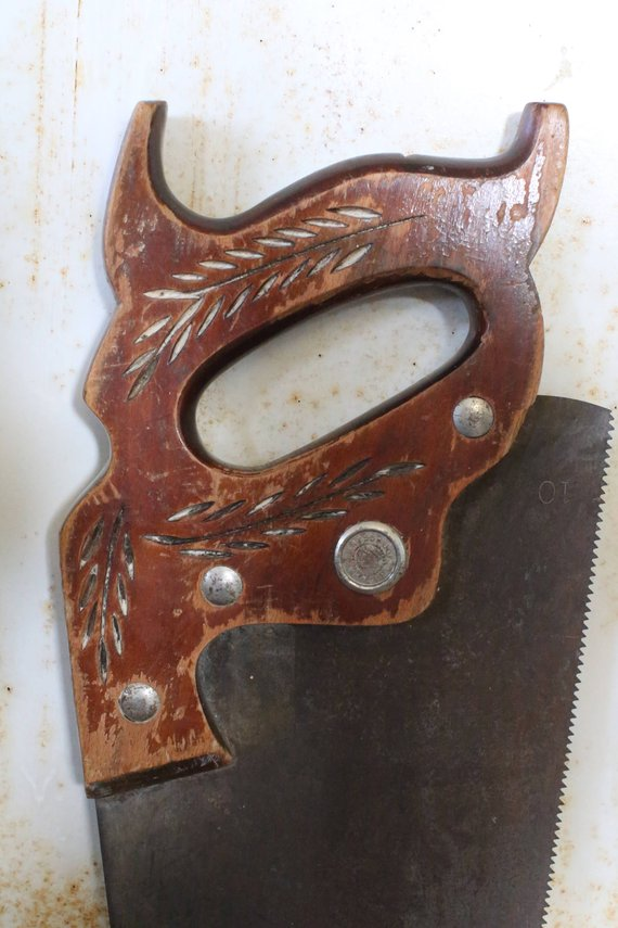 Antique Warranted Superior Hand Saw | Hand saw, Vintage