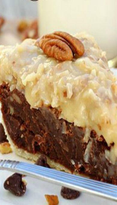 German Chocolate Fudge Pie Best Dessert Recipes Pie