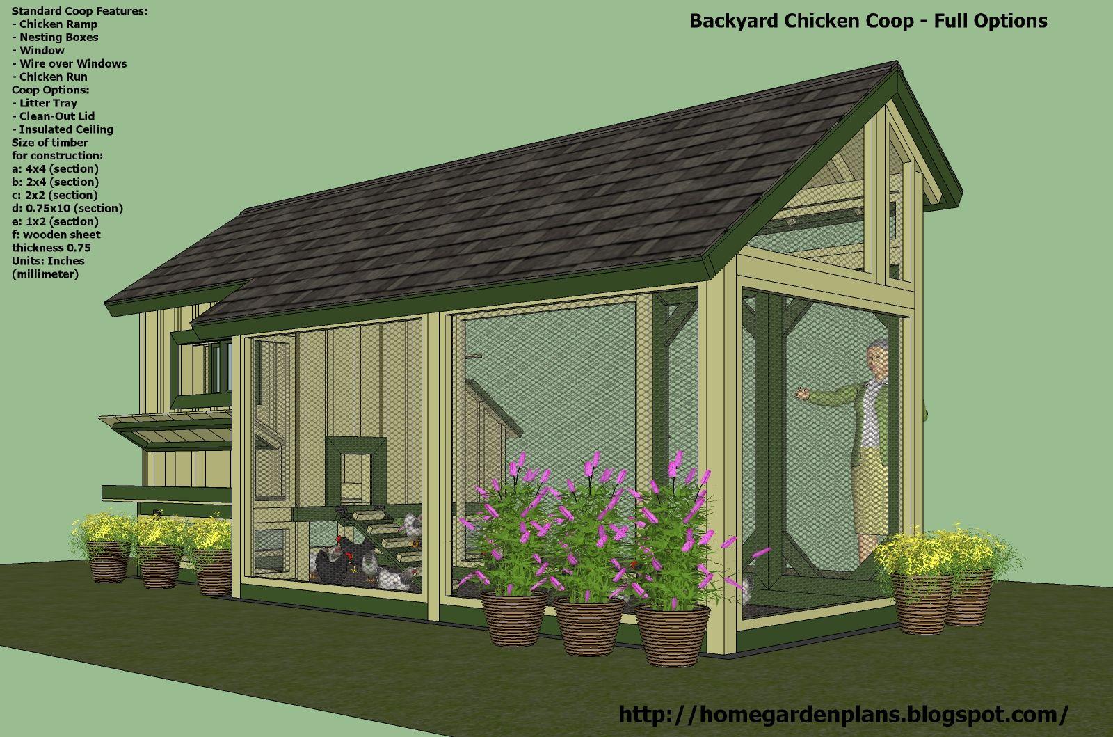 Home Garden Plans: M200   Perfect Options   Backyard Chicken Coop Plans   Free  Chicken
