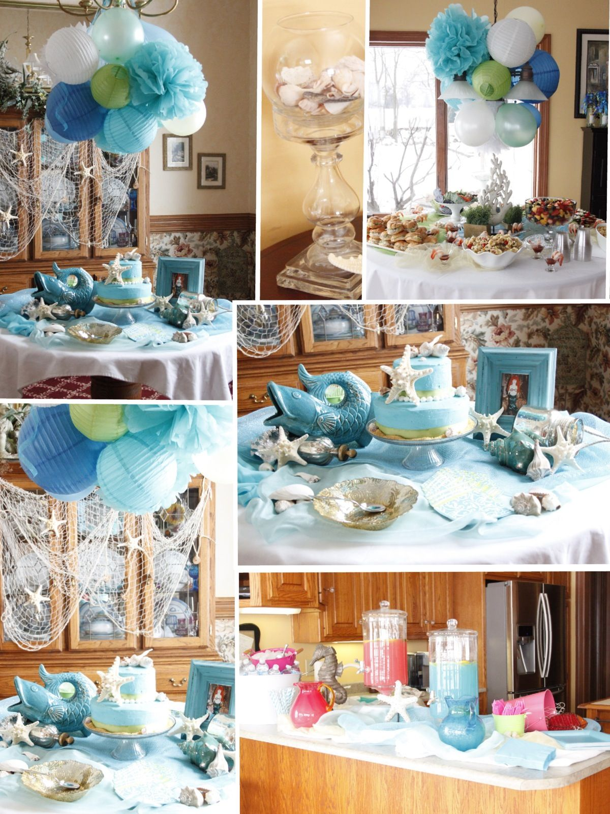 wedding decorations beach theme the sea bridal shower showers 9083