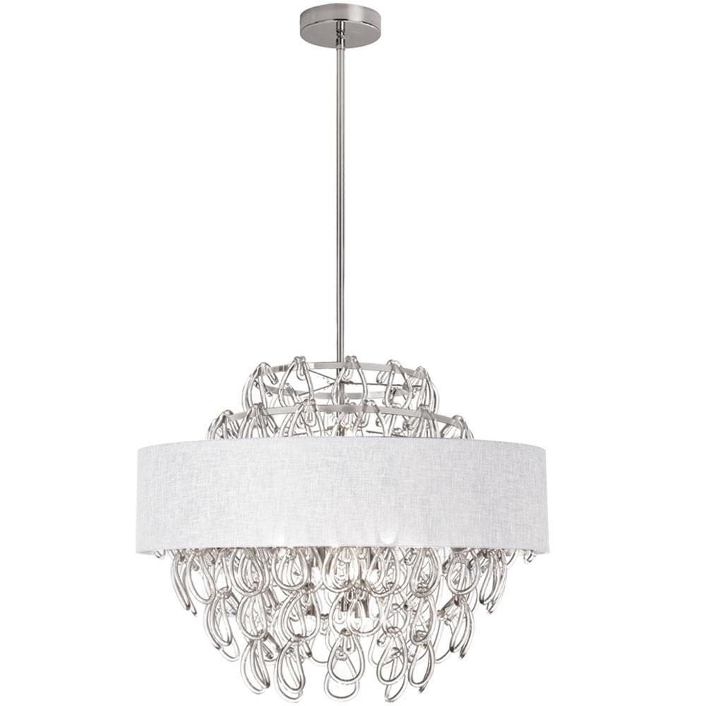 Filament design 12 light polished chrome chandelier with white shade filament design 12 light polished chrome chandelier with white shade arubaitofo Images
