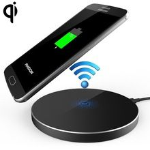 New Qi Wireless Charger Power Bank Ultra-Slim Metal Aluminum For Samsung iPhone(China (Mainland))