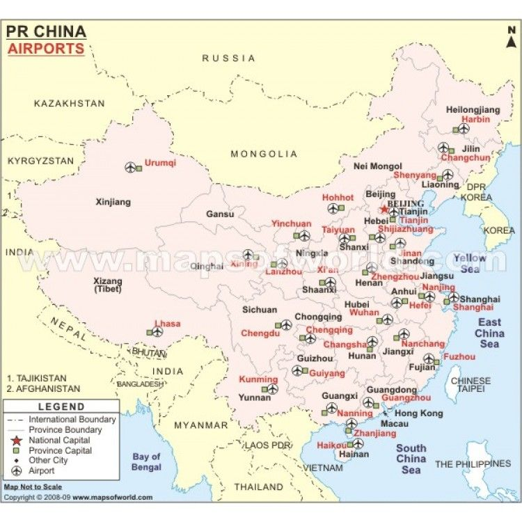 Buy China Airport Map China Map Country Maps Map