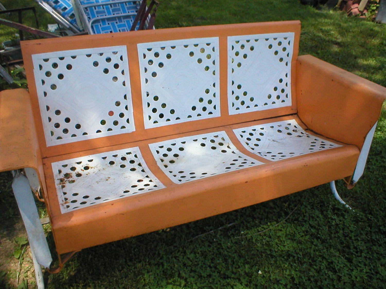 vintage metal porch glider needs restored by - Porch Gliders