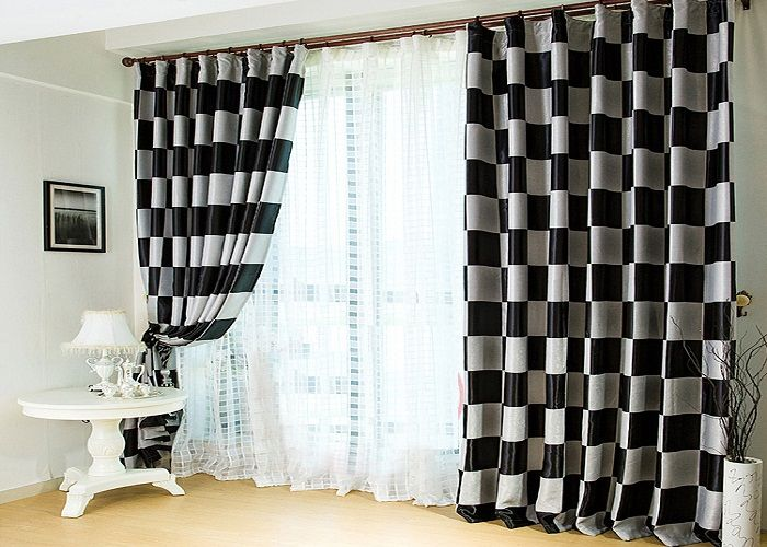 Black And White Curtains For Bedroom Modern Black And White