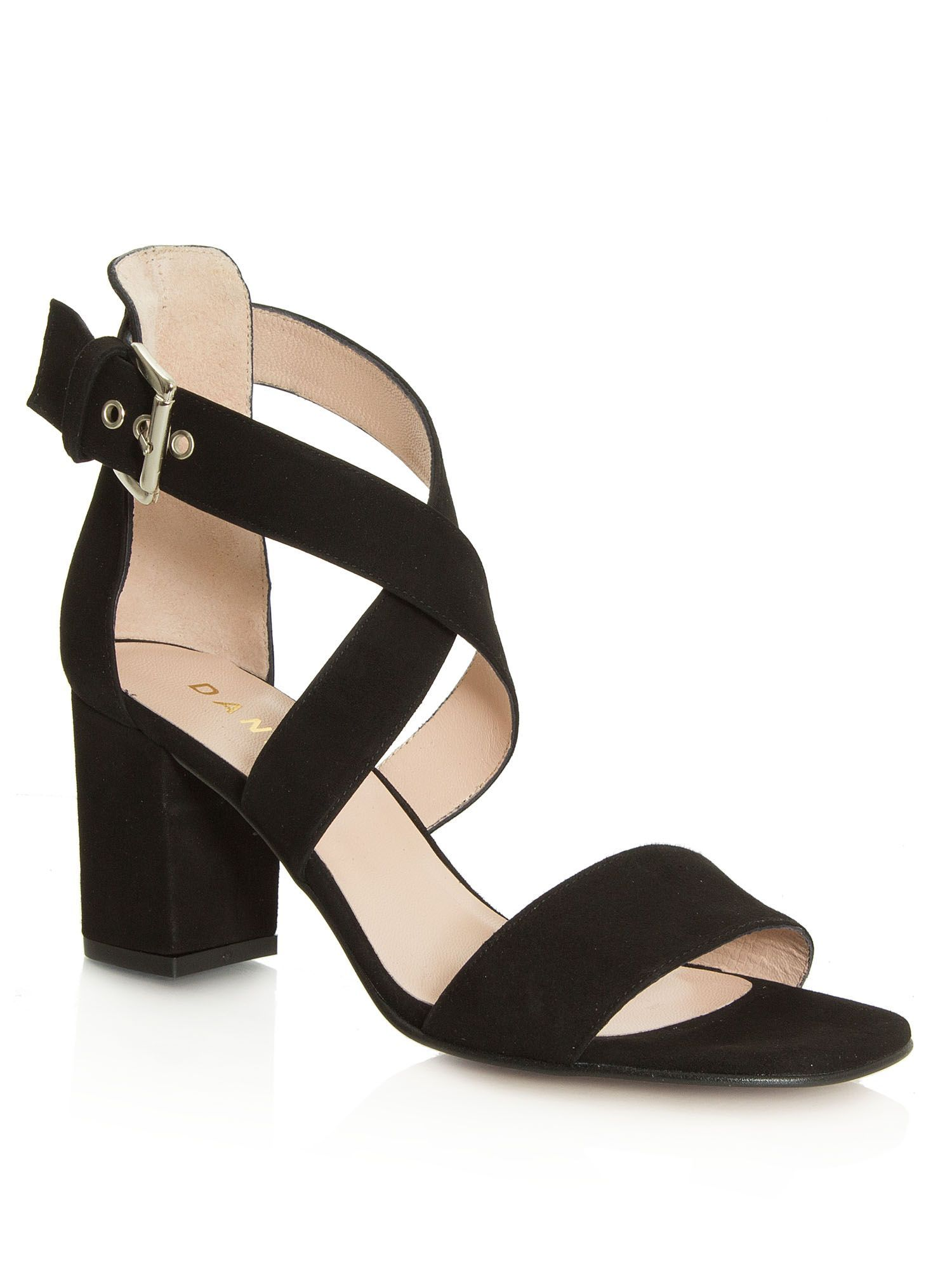 531edc4cb6 Daniel Southaven block heel sandals, Black Ladies Shoes, Strap Sandals,  Block Heels,