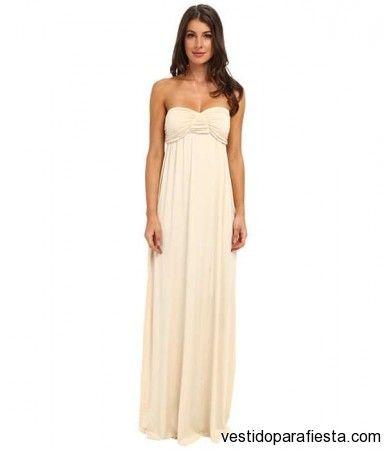 6d6f11174 Sencillos vestidos largos strapless para dama de honor 2014 - 13