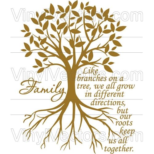 Family Tree Clipart Branches On A Tree We All Grow In