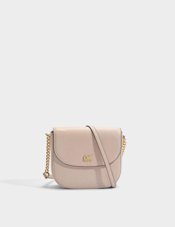028e1a0805c0 MICHAEL Michael Kors Half Dome Crossbody Bag in Soft Pink Small Pebble  Leather