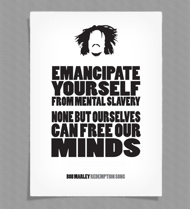 Bob Marley / Lyrics Posters by Jack Banting — Kickstarter
