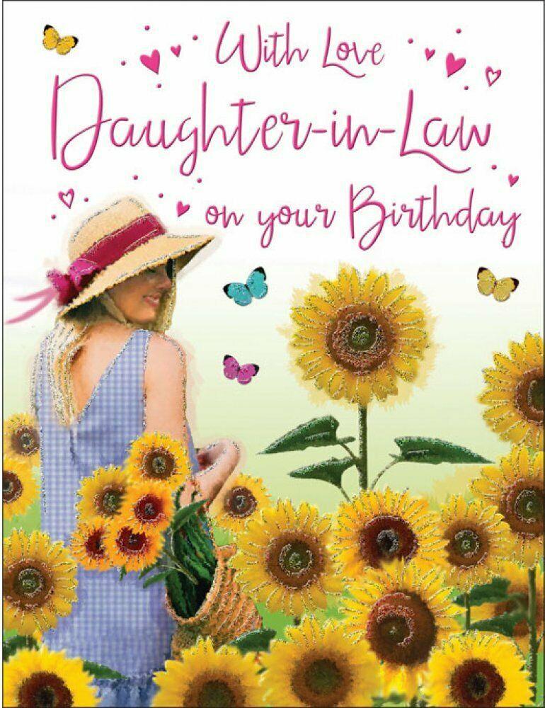 DaughterinLaw Birthday Card Sunflowers 8 x 6 Inches