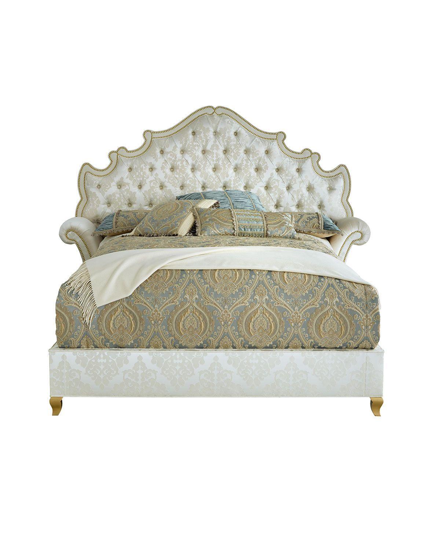 Haute House Daniella Tufted Queen Bed   Pinterest