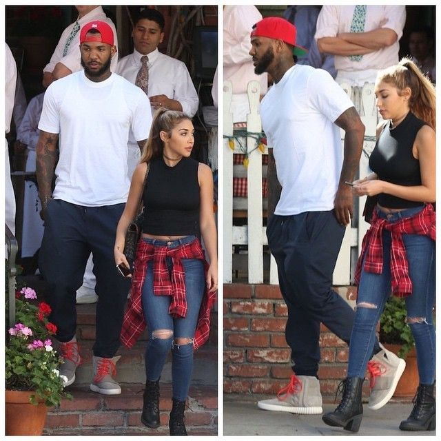 The Game wears Kanye West x Adidas Yeezy 750 Boost Sneakers For Lunch in  West Hollywood