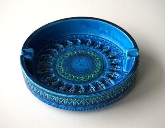 Grande posacenere di Ceramica Flavia Bitossi di RosaGeranio