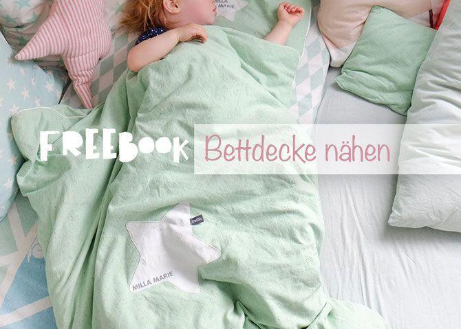 Lybstes Bettdecke Nahen In Mint Fur Baby Und Kids Freebook