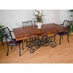 Wrought Iron Dining Tables Classic Elegant And Timeless Artisan Crafted Iron Furnishings And Decor Blog Wrought Iron Dining Table Wrought Iron Table Dining Table Copper