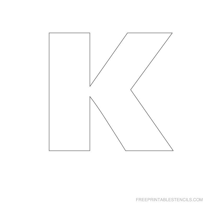 Printable Big Letter Stencil K Kylie and Kaycee Party Letter