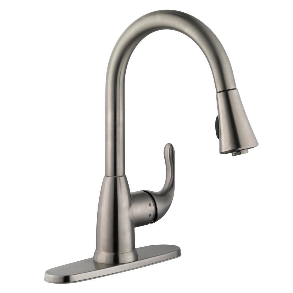 Glacier Bay Market Single Handle Pull Down Sprayer Kitchen Faucet