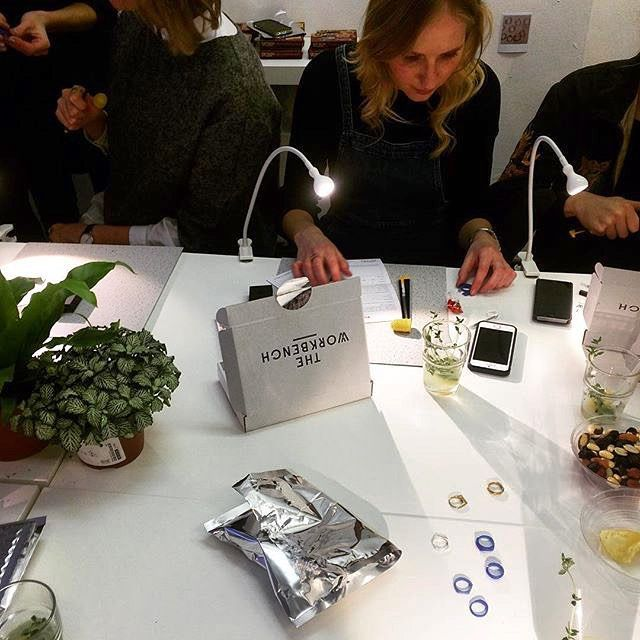 Regram from @theworkbenchldn - so sad to have missed their press preview tonight! Exciting night and wishing the girls the best of luck  #press #presspreview #pressparty #theworkbenchldn #londonjewellery #handmade #workshop #weddingjewellery #engagementjewellery #weddingring #engagementring #hendoideas #henpartyideas #london #londonblog #londonblogger #weddingblog #weddingblogger #devinebride - seems article on making your own wedding ring with @theworkbenchldn @ devinebride.co.uk - link in…