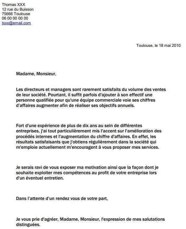 Exemple D Un Cv Campus France: Lettre De Motivation, Exemple