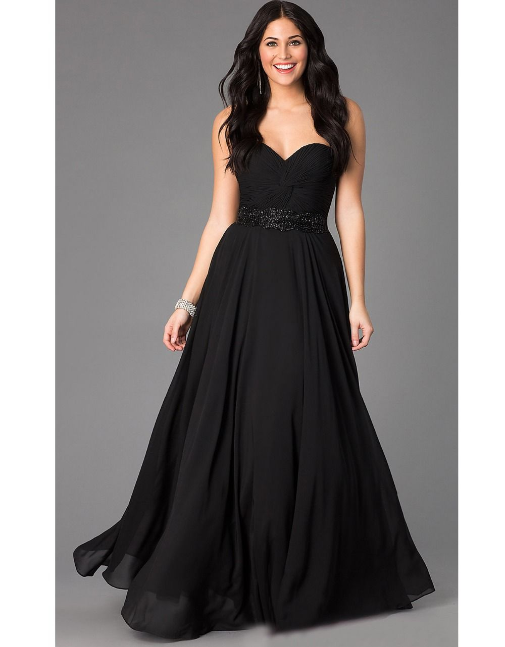 long black masquerade dress prom abendkleider 2015 crystal plus size ...