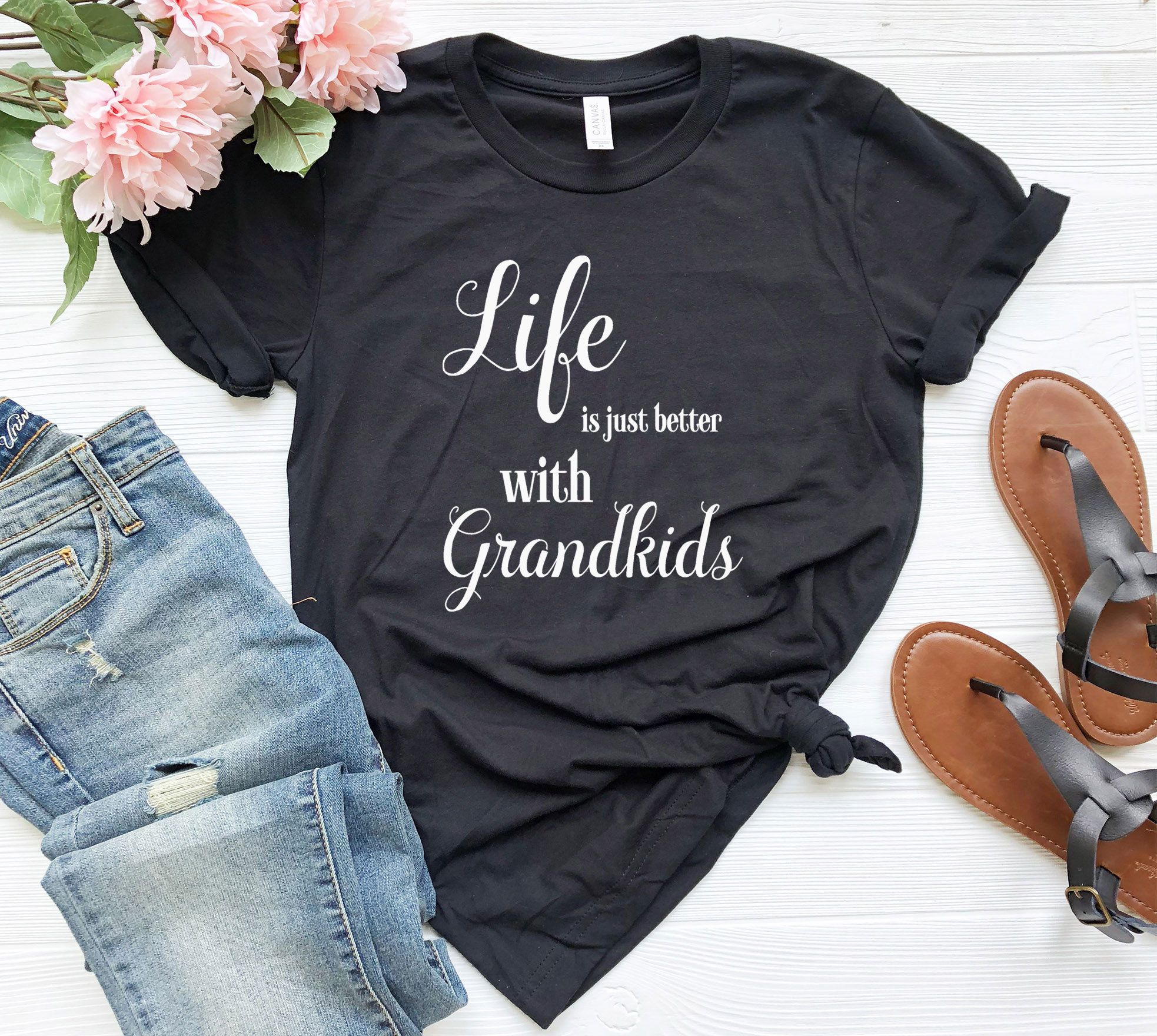 Life Is Just Better With Grandma shirt, Nana Shirt, Grandma, Grandpa Birthday Gift, Grandparents Shirt, Grandparents Shirt, Mothers Day Idea #grandpabirthdaygifts
