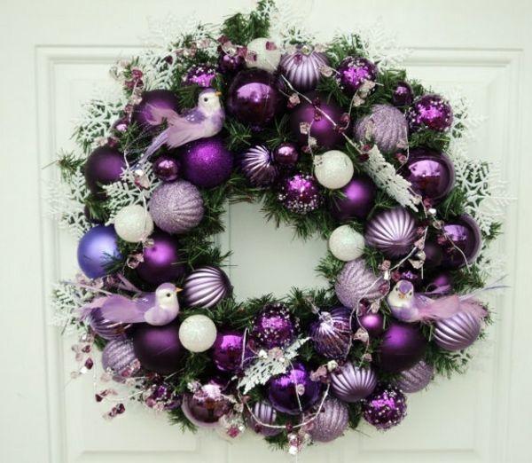 Weihnachtsdeko Lila Silber.Adventskranz Basteln Und Das Schönste Familienfest Genießen