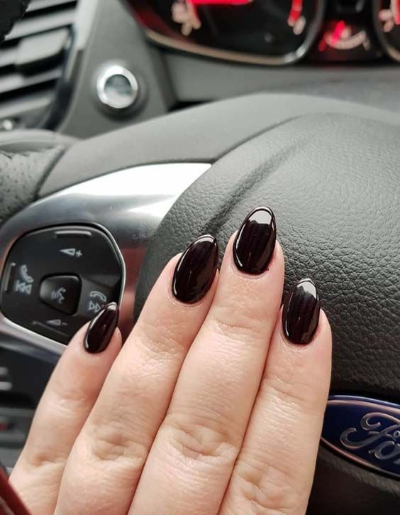 Visit here to see the coolest matte black nail art designs to copy ...