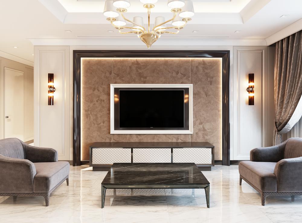 Leonid Sizikov On Behance Living Room Design Modern Tv Room Design Luxury Living Room Design