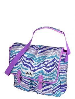 Glitzy Zebra Messenger Bag, 16x14x5 | justice ss | Pinterest ...