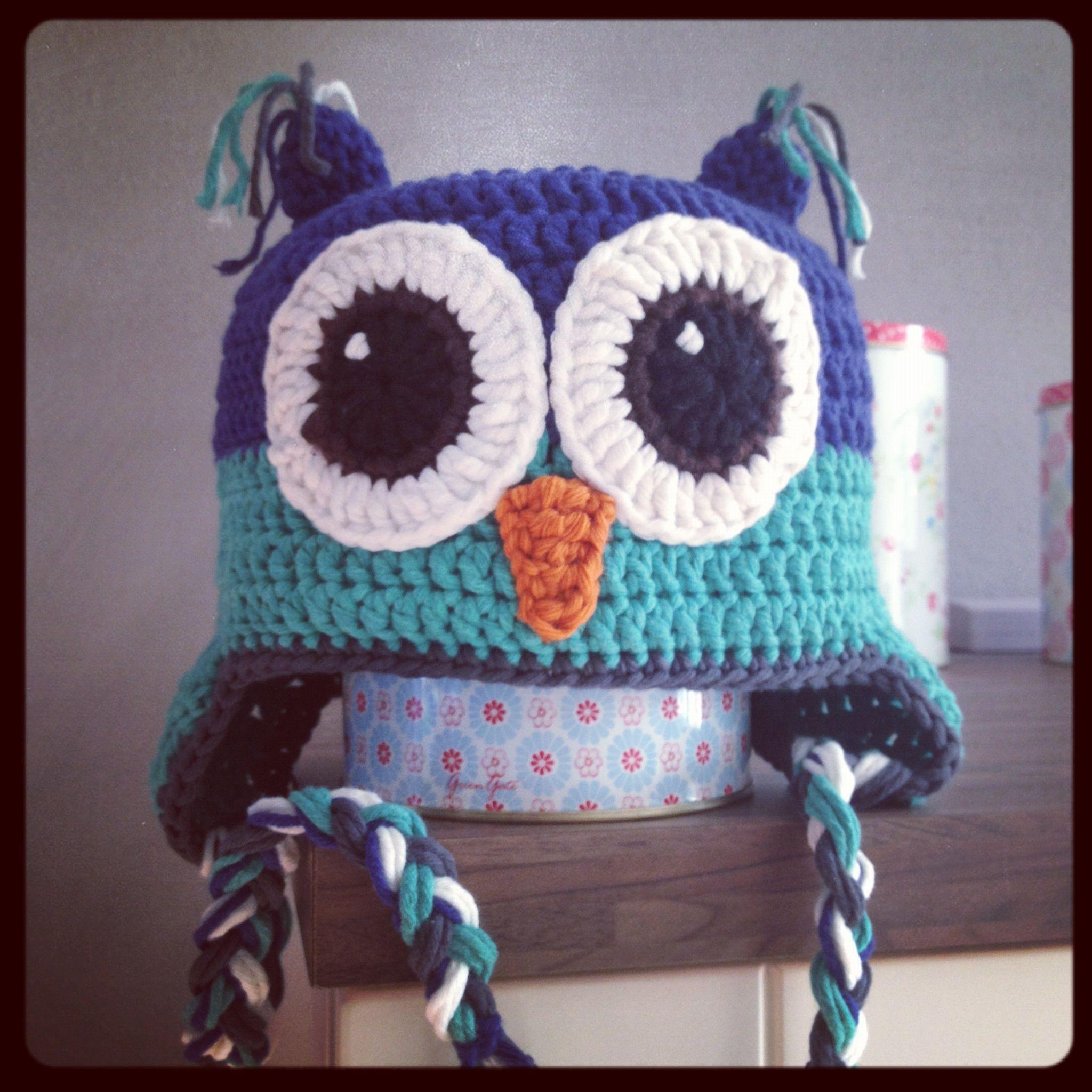 Owl hat Lars ~ made by VanSjoukje© ~ uil ~ muts ~ haken ~ crochet