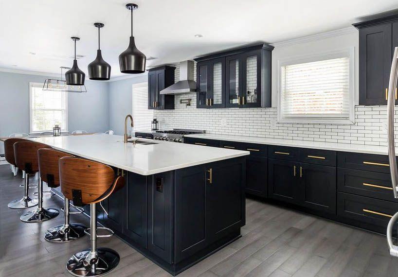 Beautiful Black Kitchen Cabinets Design Ideas Small Kitchen Cabinet Design Black Kitchen Cabinets Kitchen Cabinet Design