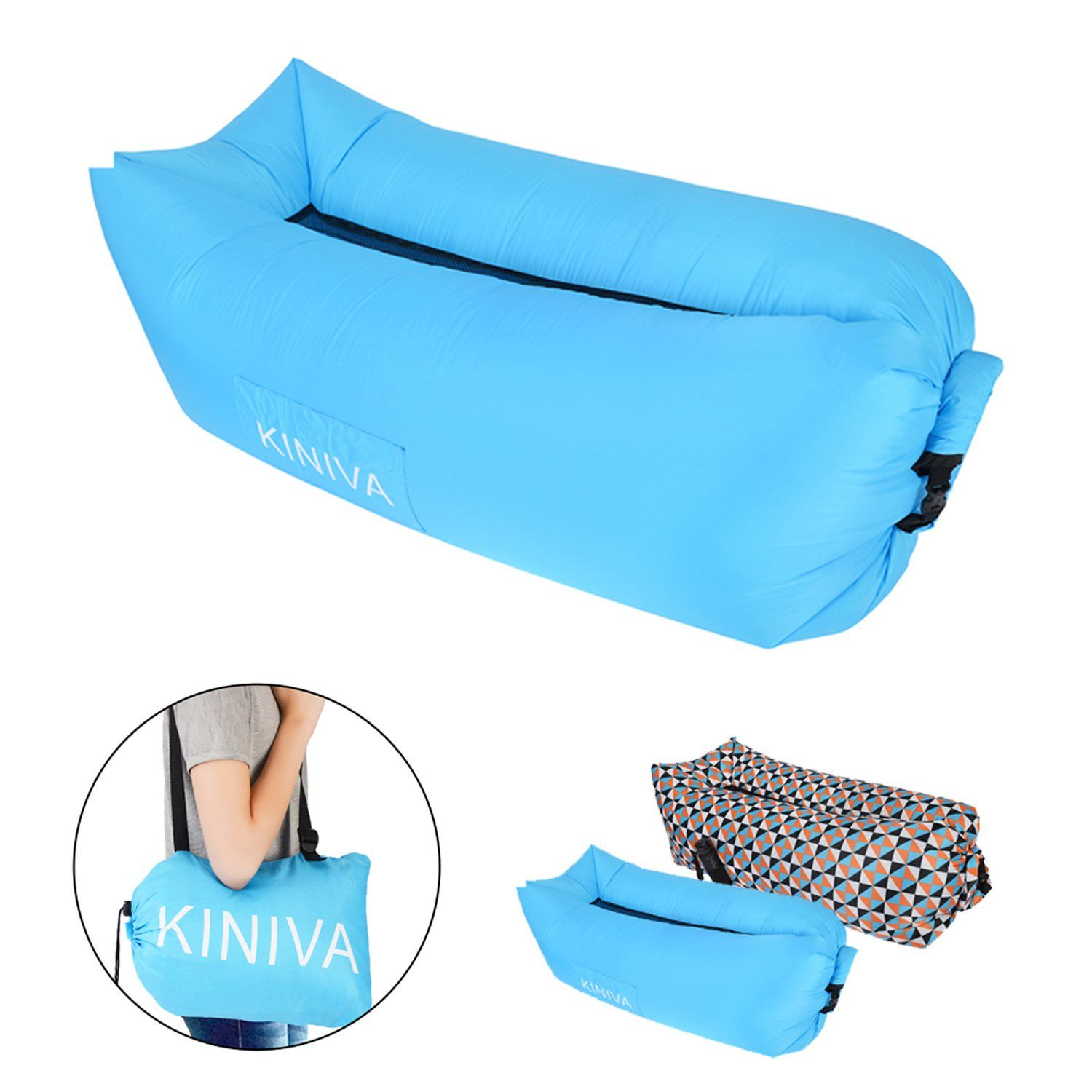 Inflatable Lounger KINIVA Air Sofa Bed Inflated Beach Couch