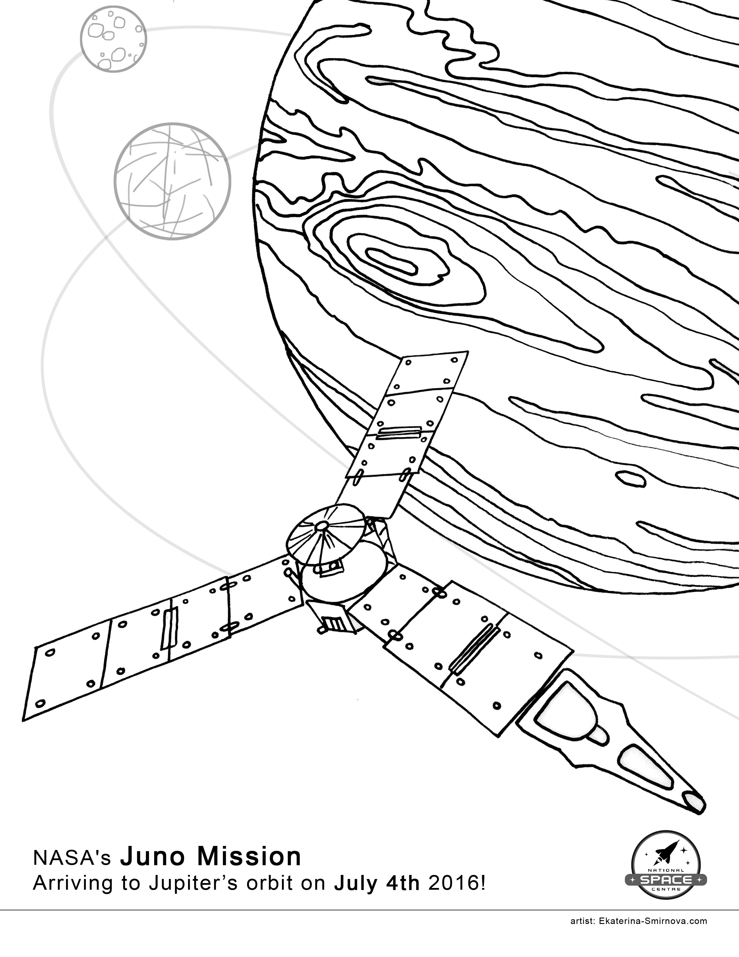 Coloring Book For Space Missions Juno Rosetta Cassini Coloring Books Color Space