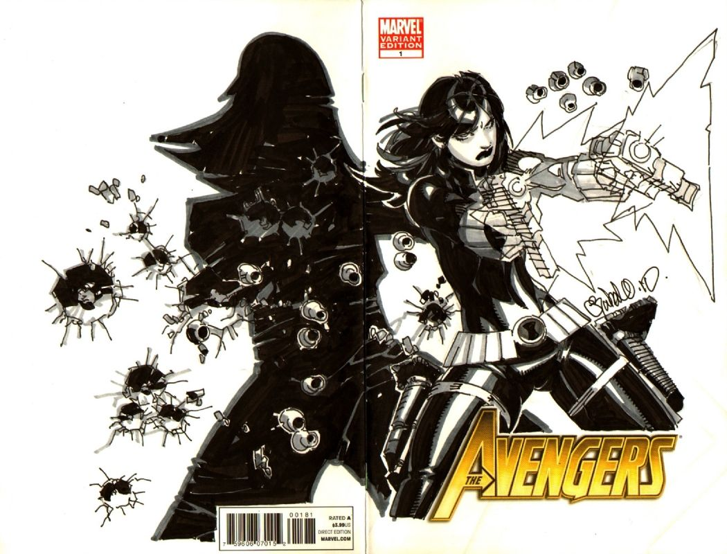 Book Cover Art Generator : Chris bachalo comic book cover art black