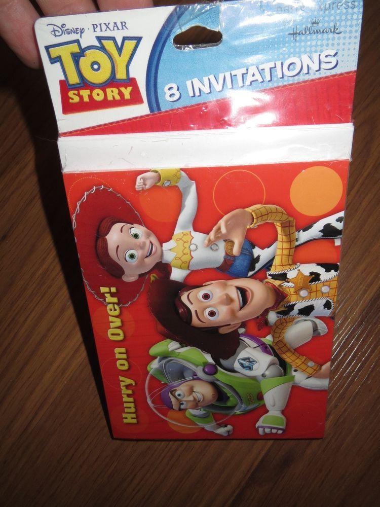 Disney Pixar Toy Story Birthday 8 Party Invitations Hallmark New ...