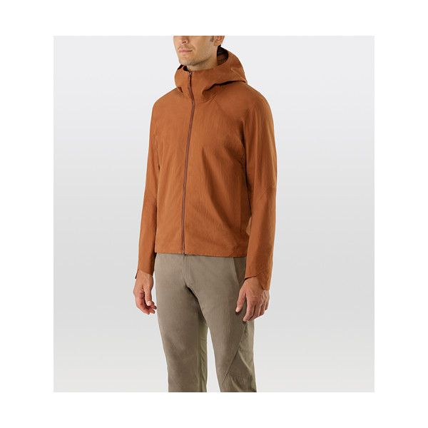 Isogon Hooded Jacket Men's via Polyvore featuring men's fashion and men's clothing