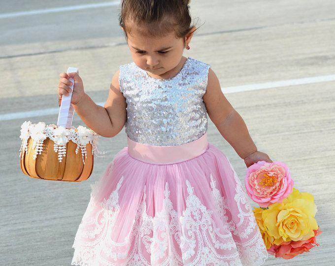 Vestido de niña de las flores, fiesta de cumpleaños boda de Dama de honor tul encaje vestido, alta costura encaje bebé vestido de bautismo de la niña de vacaciones