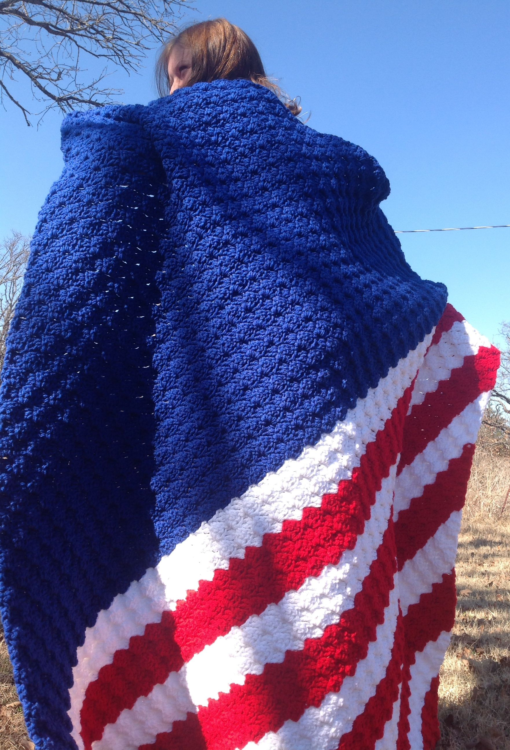 Contemporary Crochet American Flag Afghan Pattern Image Collection ...