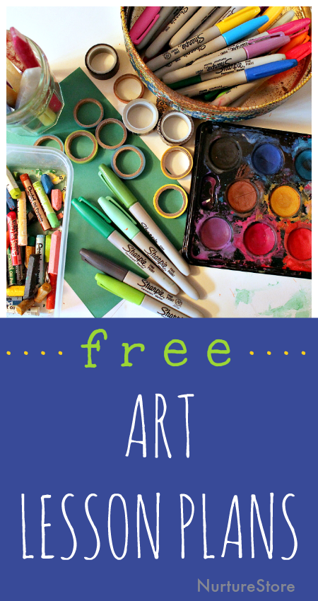 Five Day Art Adventure free online art classes for kids