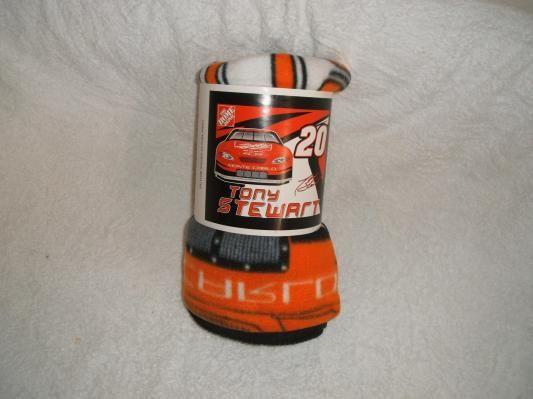 Tony Stewart #20, Home Depot Chevy Racing Fleece Throw Blanket w/free shipping