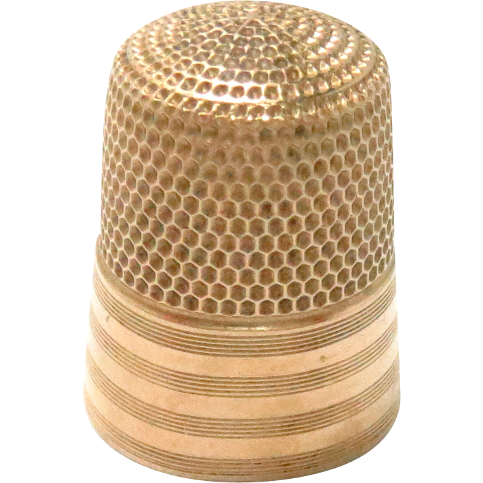 Sewing Thimble 14 K Solid Gold Vintage Simons Bros. Maker 1930's 4.8 g.