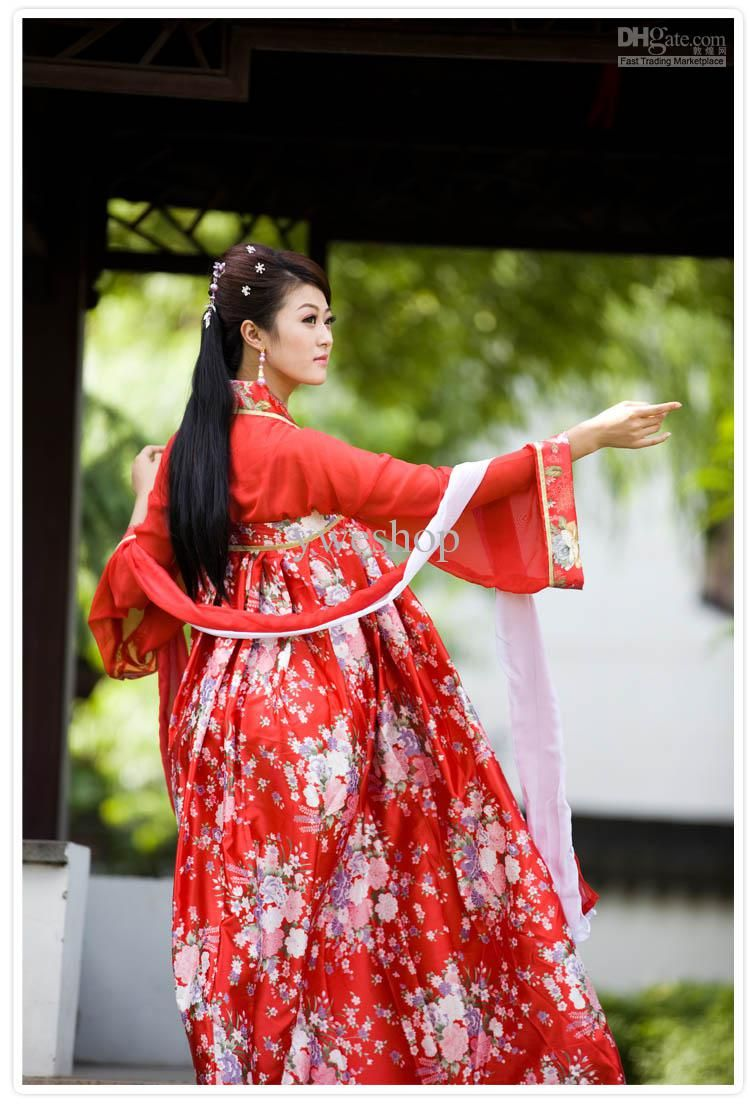 Charming China Ethnic cloth Traditional Clothing Women Slip Skirt chest Chinese  Dress up