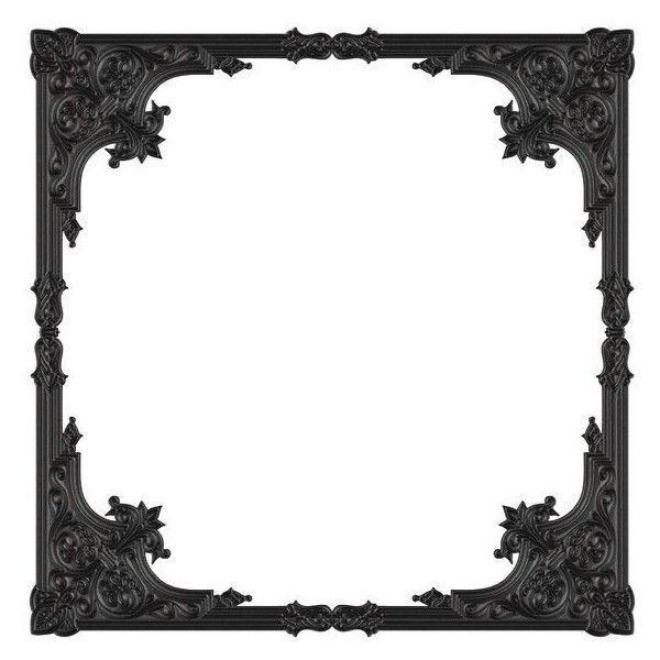 Gothic Black Frame ❤ liked on Polyvore featuring home, home decor, frames, borders, backgrounds, picture frame, black home decor, goth home decor, gothic home accessories and gothic home decor