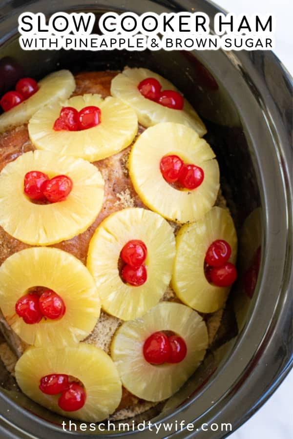 Crockpot Ham with Pineapple and Brown Sugar | The