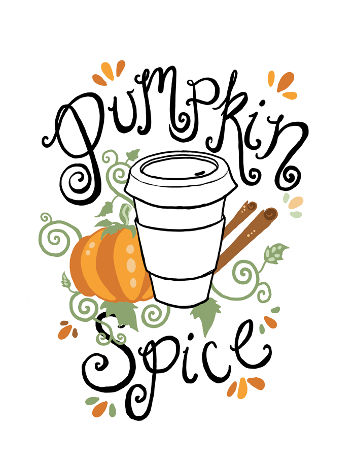 free printable pumpkin spice illustration by fin and feather art rh pinterest com Clip Art That Moves Autumn Thank You Clip Art