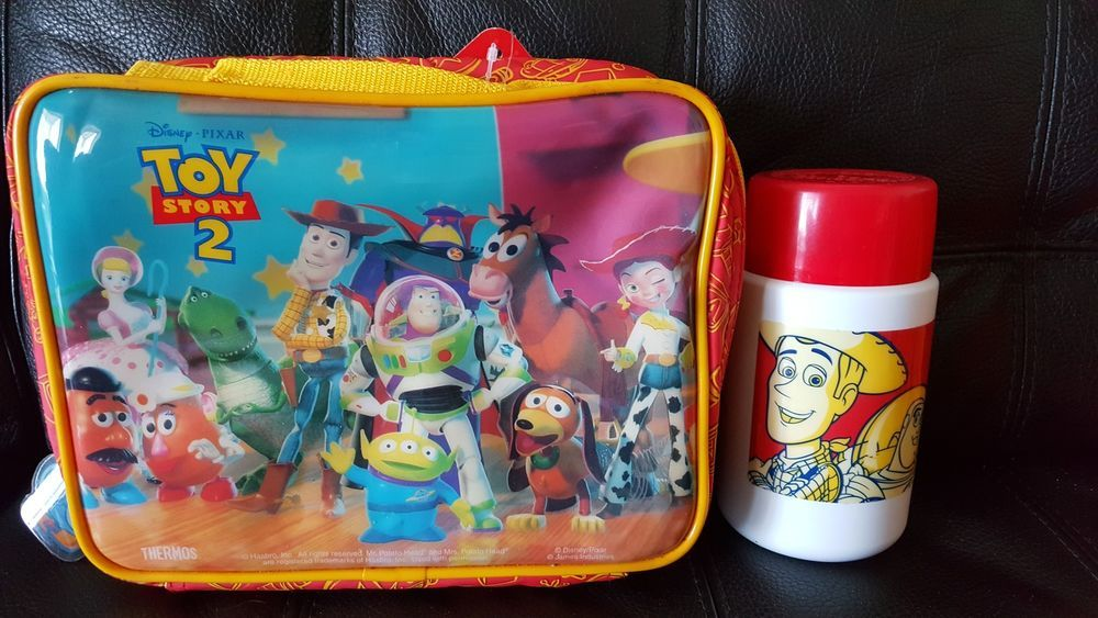 071cd0e0d66 Toy Story 2 Lunch Bag with Thermos New